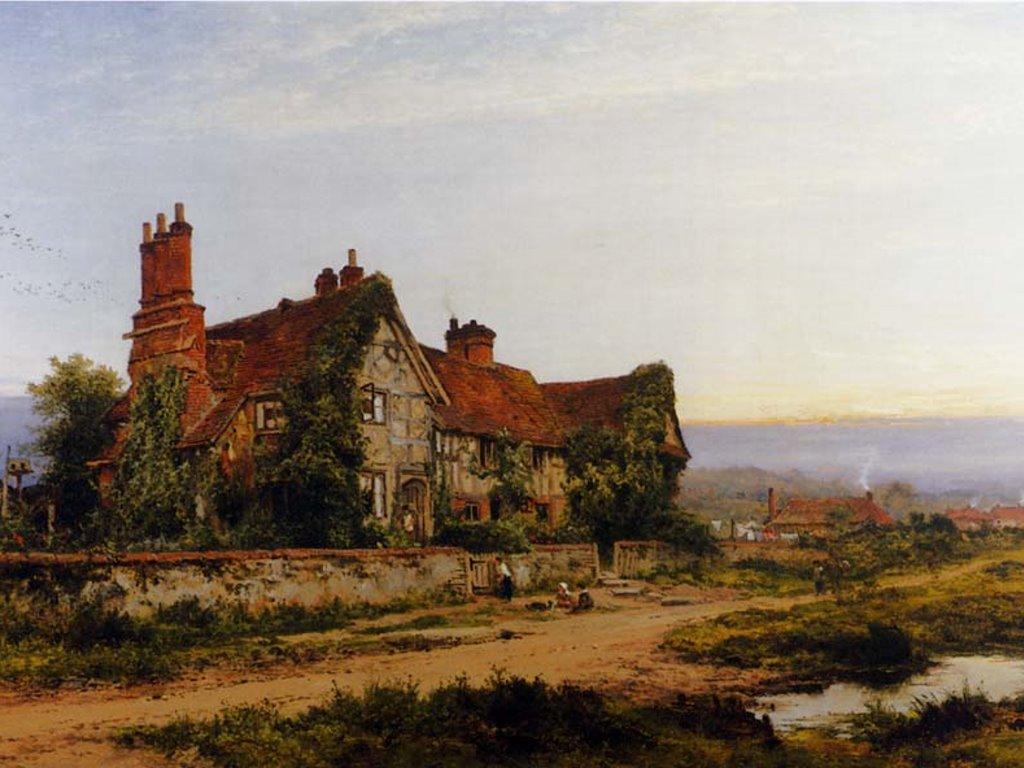 Artistic Wallpaper: Benjamin Williams Leader -  An Old Surrey Home