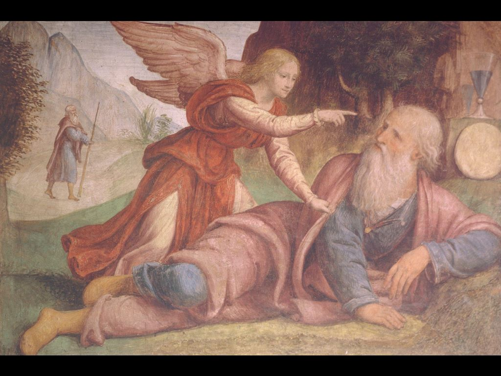 Artistic Wallpaper: Bernardino Luini - Elijah Awakened by an Angel