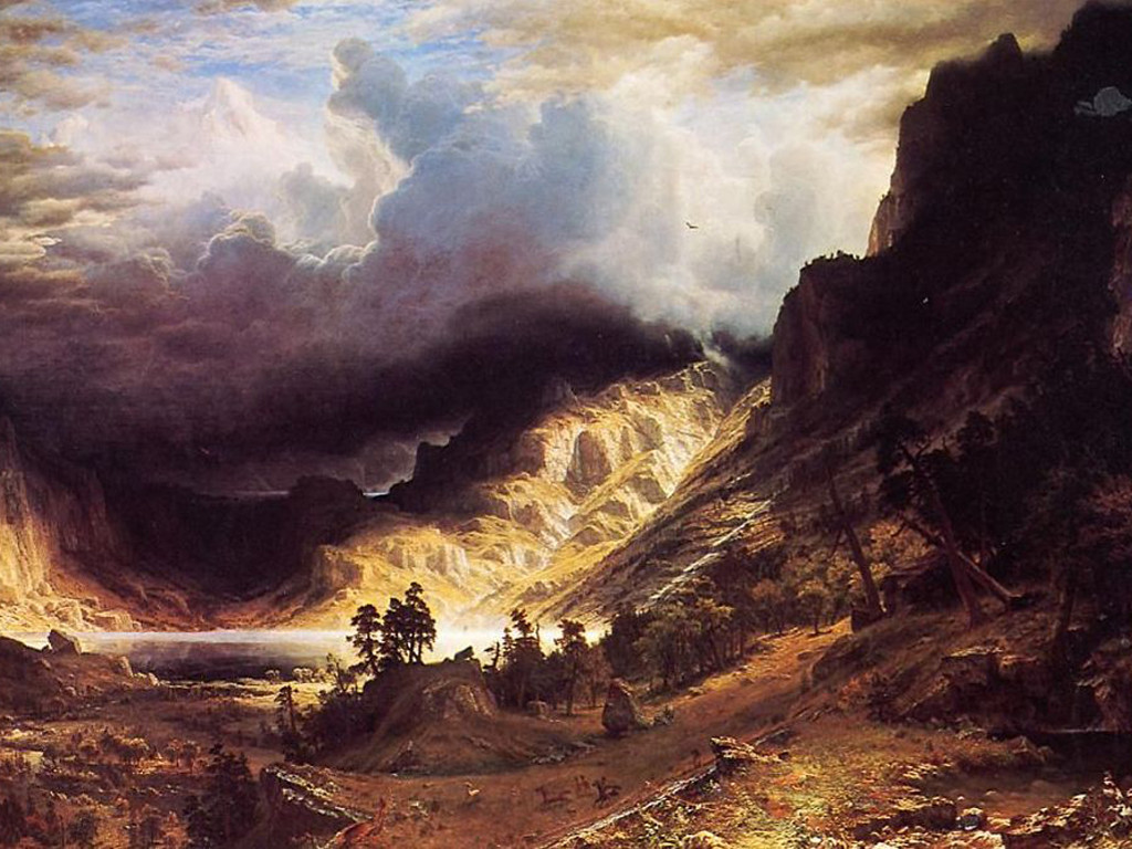 Artistic Wallpaper: Bierstad - A Storm in the Rocky Mountain