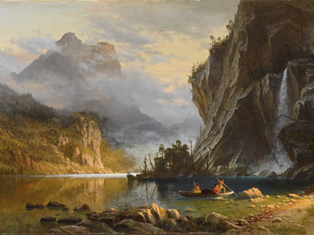 Artistic Wallpaper: Bierstadt - Indians Spear Fishing