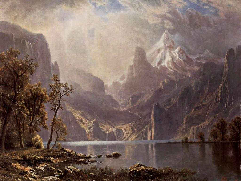 Artistic Wallpaper: Bierstadt - Lake Tahoe