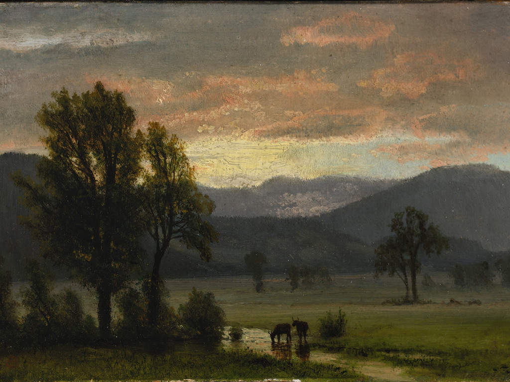 Artistic Wallpaper: Bierstadt - Landscape With Cattle