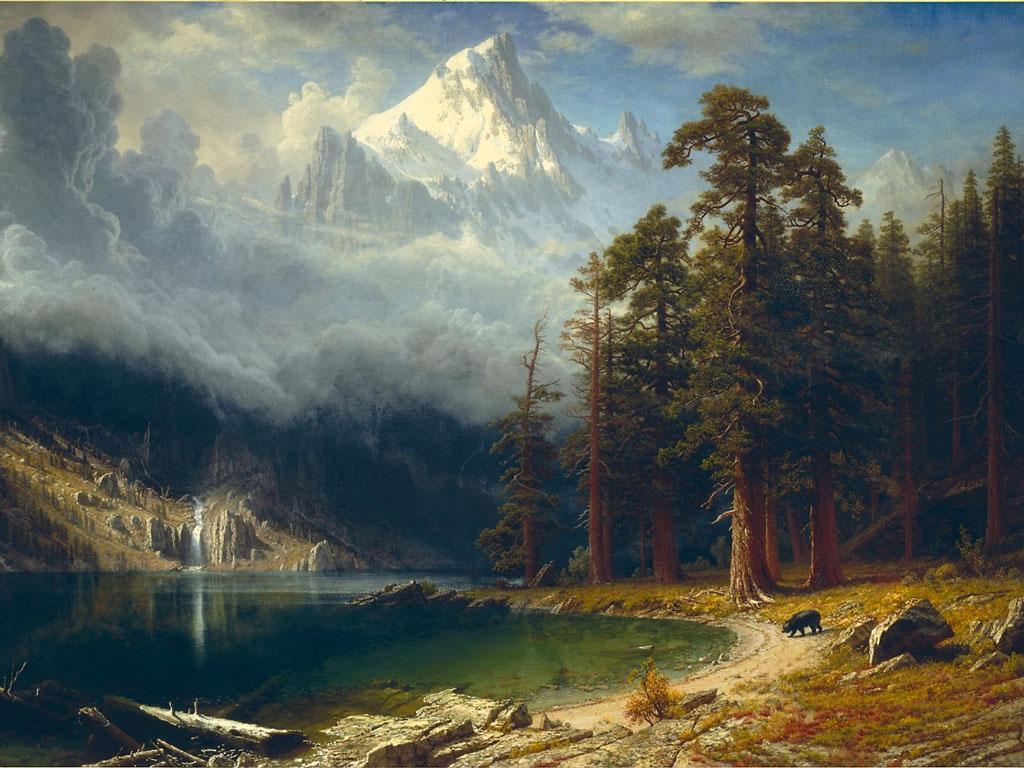 Artistic Wallpaper: Bierstadt - Mount Corcoran