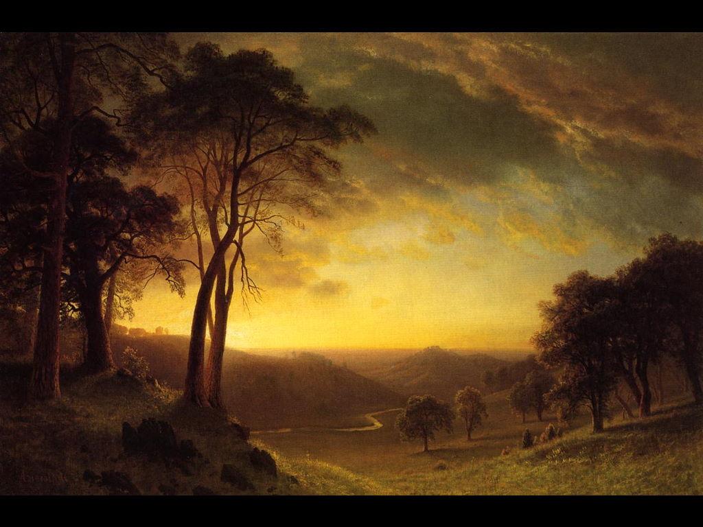 Artistic Wallpaper: Bierstadt - Sacramento River Valley
