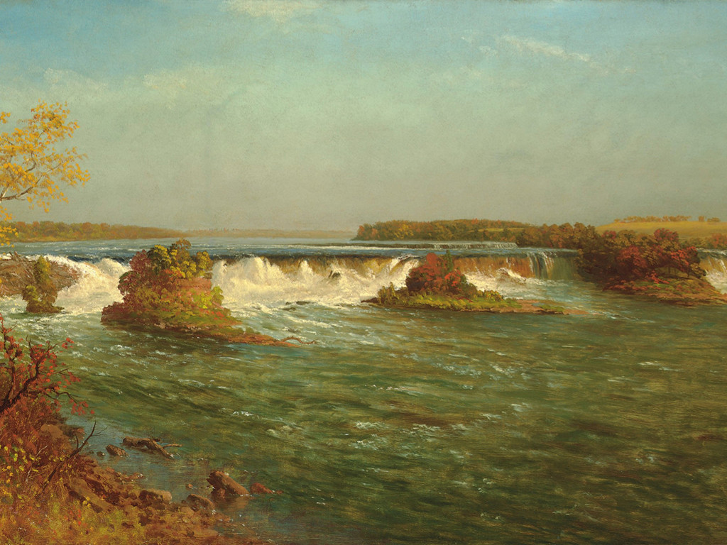 Artistic Wallpaper: Bierstadt - The Falls of Saint Anthony