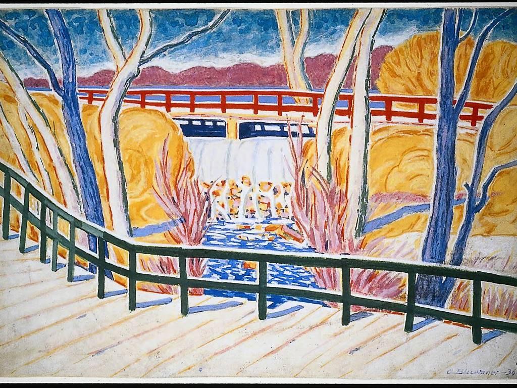 Artistic Wallpaper: Bluemner - Van Cortlandt Park