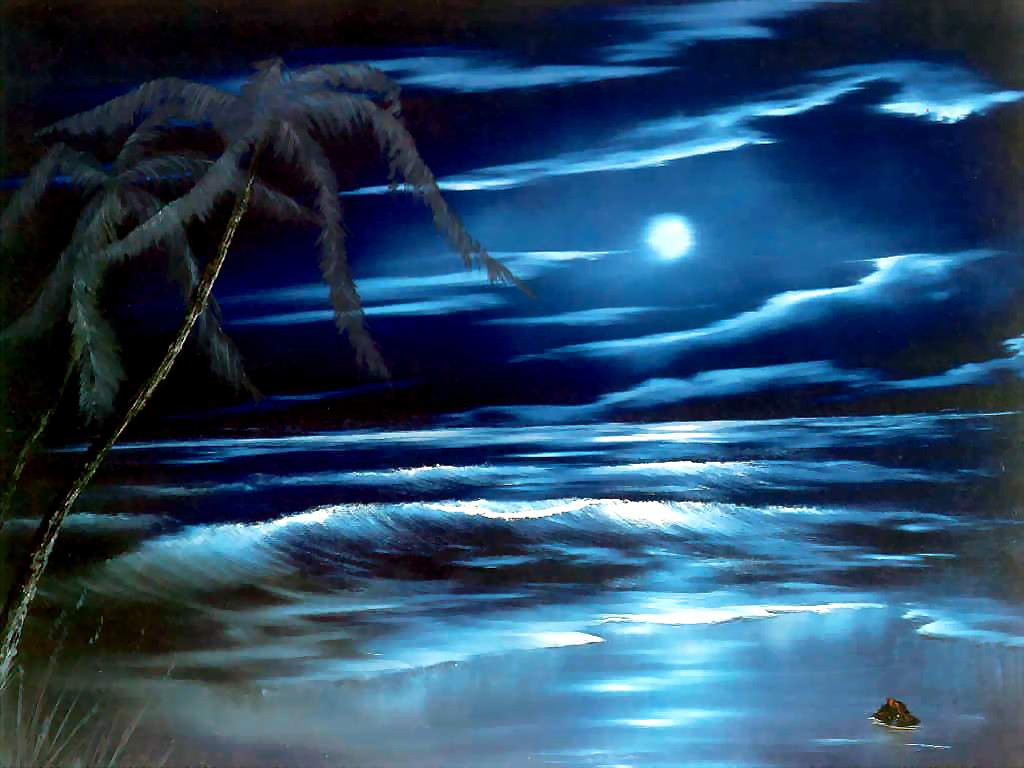 Artistic Wallpaper: Bob Ross - Blue Moon