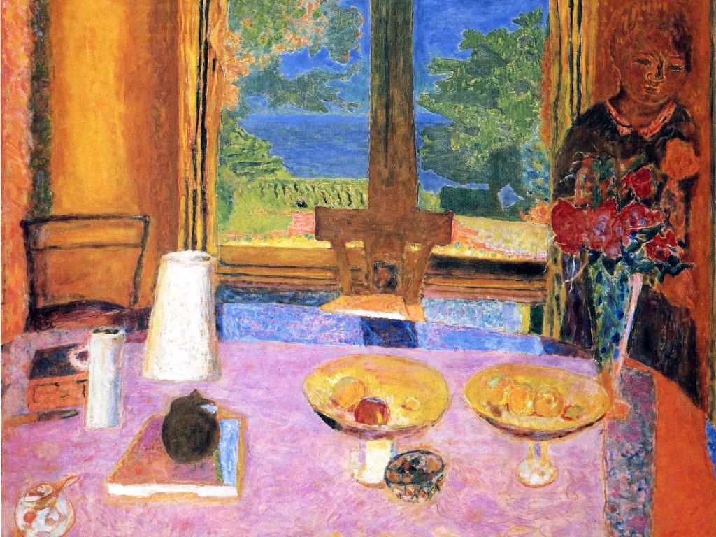 Artistic Wallpaper: Bonnard - Dining Room on the Garden