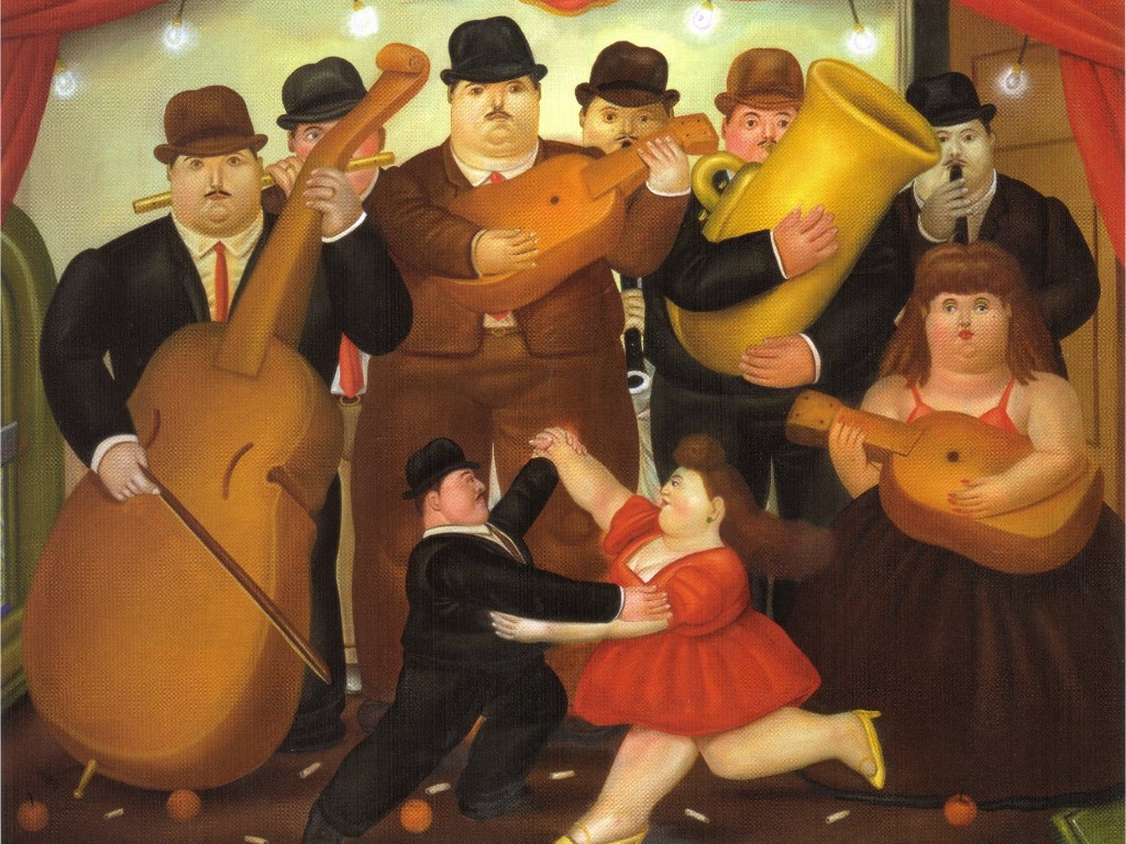 Artistic Wallpaper: Botero - Dance in Colombia