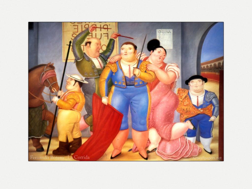 Artistic Wallpaper: Botero - La Corrida
