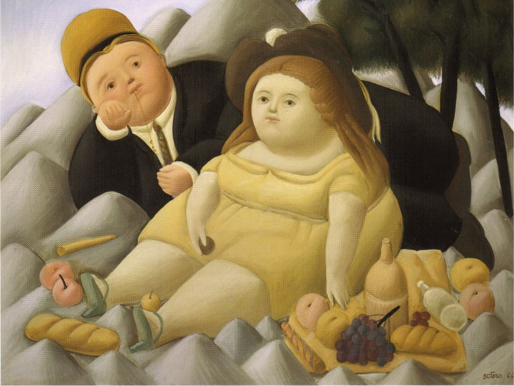 Artistic Wallpaper: Botero - Picnic in the Mountains