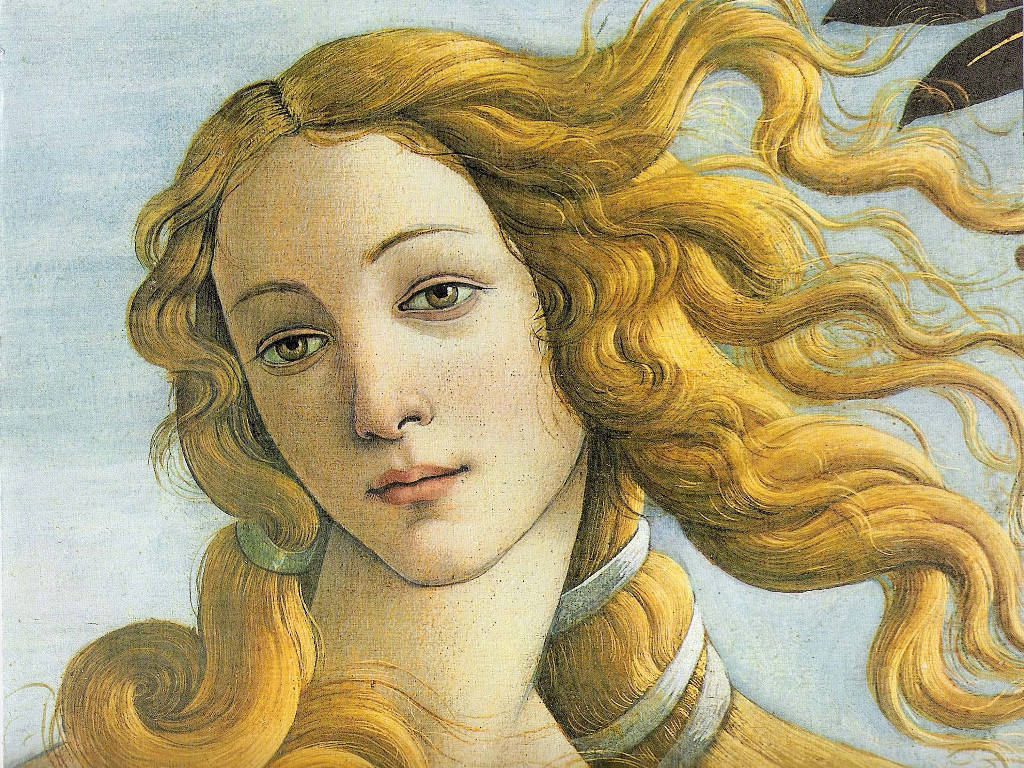 Artistic Wallpaper: Boticelli - Venus (Detail)
