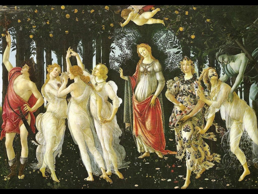 Artistic Wallpaper: Botticelli - Primavera