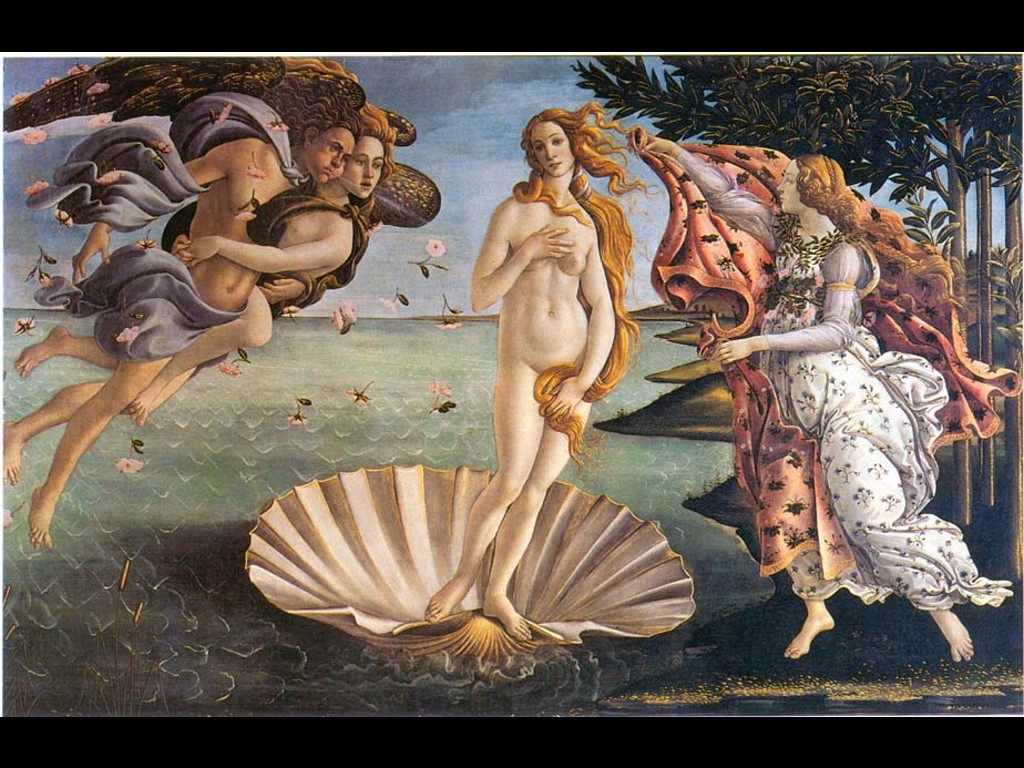 Artistic Wallpaper: Botticelli - Venus
