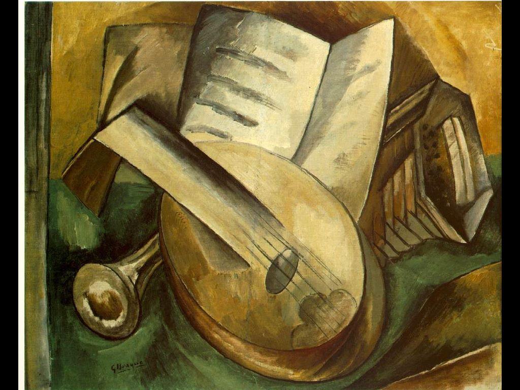 Artistic Wallpaper: Braque - Musical Instruments
