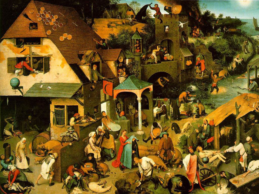 Artistic Wallpaper: Bruegel - Dutch Proverbs