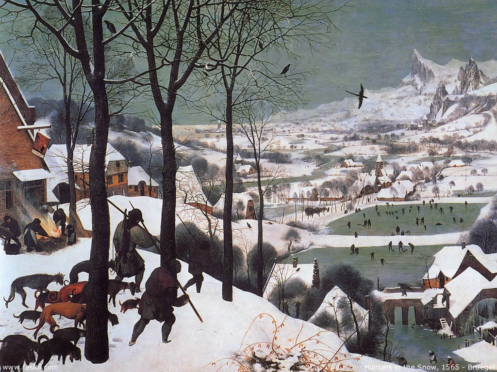 Artistic Wallpaper: Bruegel - Hunters in the Snow