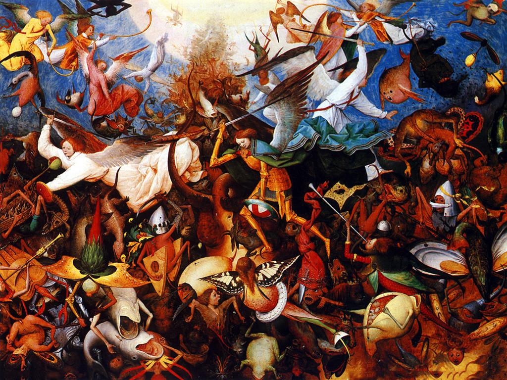 Artistic Wallpaper: Brueghel - The Fall of Rebel Angels
