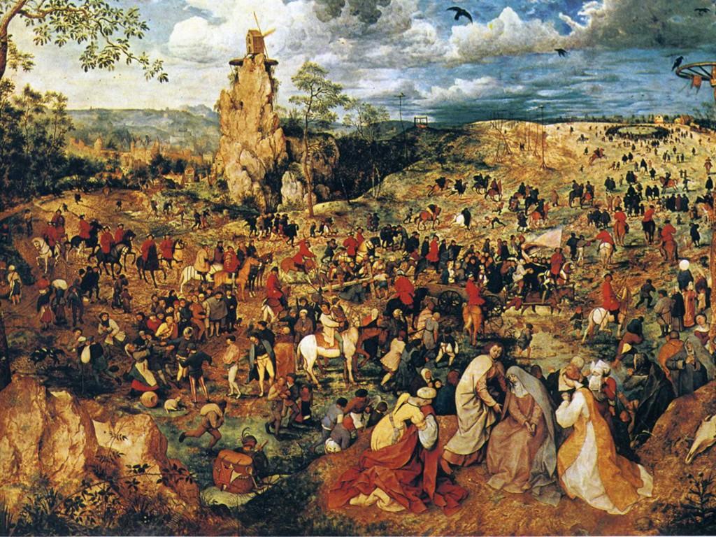 Artistic Wallpaper: Brueghel - Christ Carrying the Cross