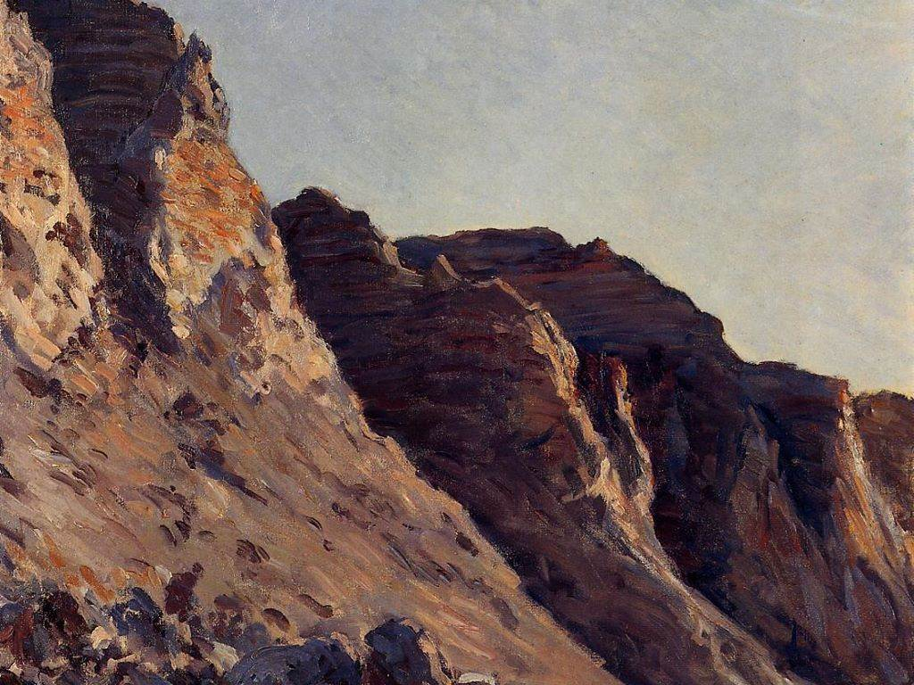 Artistic Wallpaper: Caillebotte - Cliff at Villers Sur Mer
