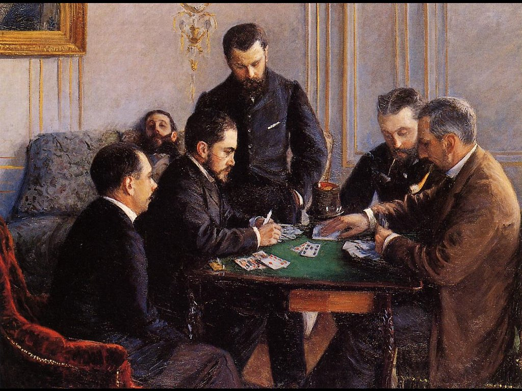 Artistic Wallpaper: Caillebotte - Game of Bezique