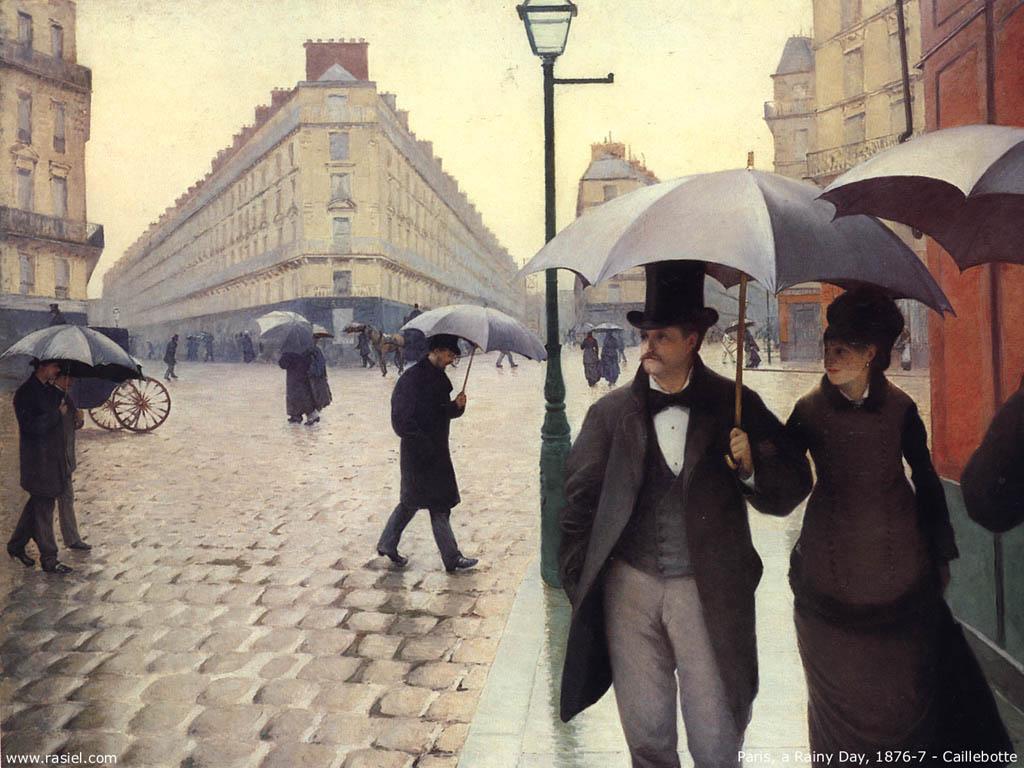 Artistic Wallpaper: Cailebotte - Paris, a Rainy Day