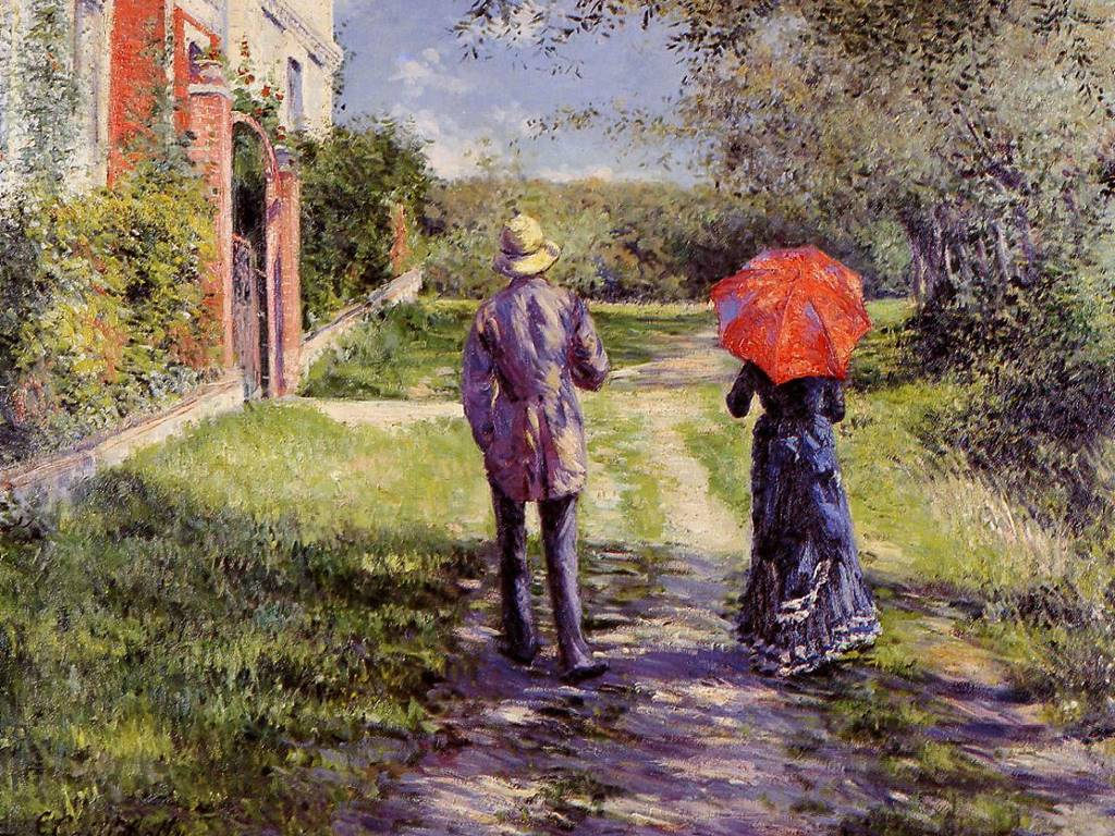 Artistic Wallpaper: Caillebotte - Rising Road
