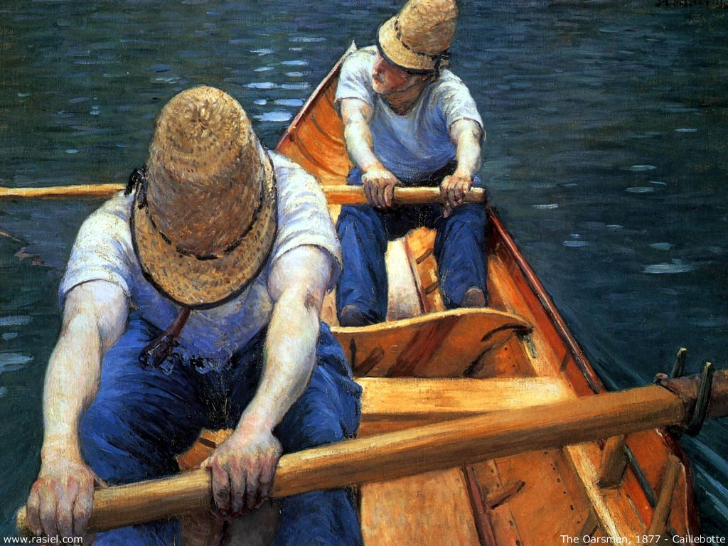 Artistic Wallpaper: Caillebotte - The Oarsmen