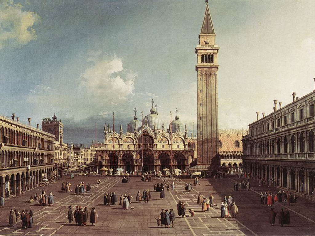 Artistic Wallpaper: Canaletto - Piazza San Marco