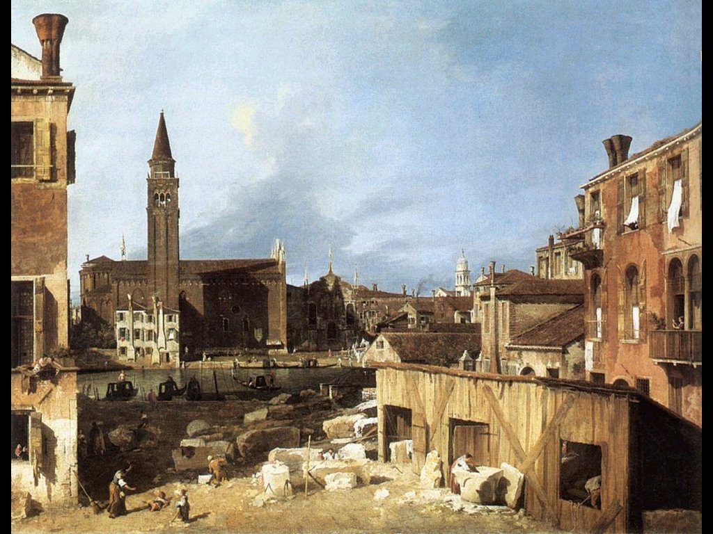 Artistic Wallpaper: Canaletto - Stone Masons Yard