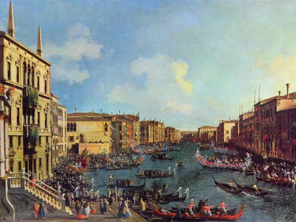 Artistic Wallpaper: Canaletto - The Regatta Seen from Ca'Foscari
