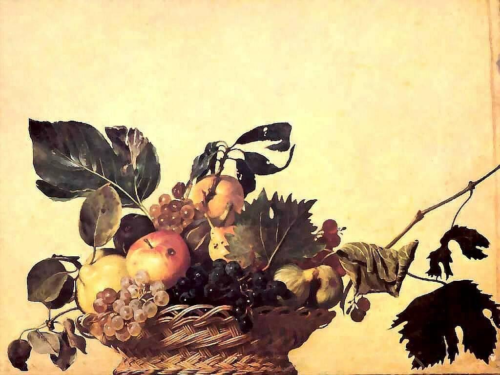 Artistic Wallpaper: Caravaggio - Canestro di Frutta