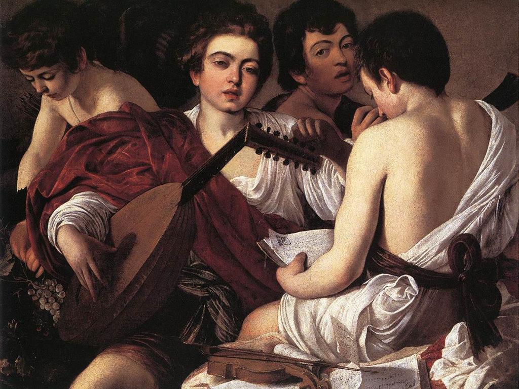 Artistic Wallpaper: Caravaggio - Concerto di Giovani