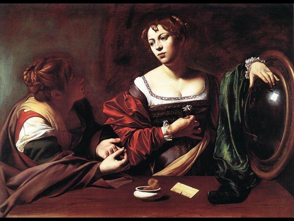Artistic Wallpaper: Caravaggio - Marta e Maria Maddalena