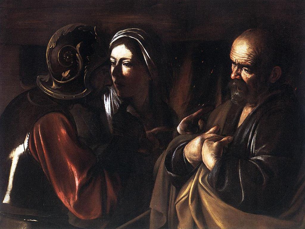 Artistic Wallpaper: Caravaggio - Negazione di San Pietro
