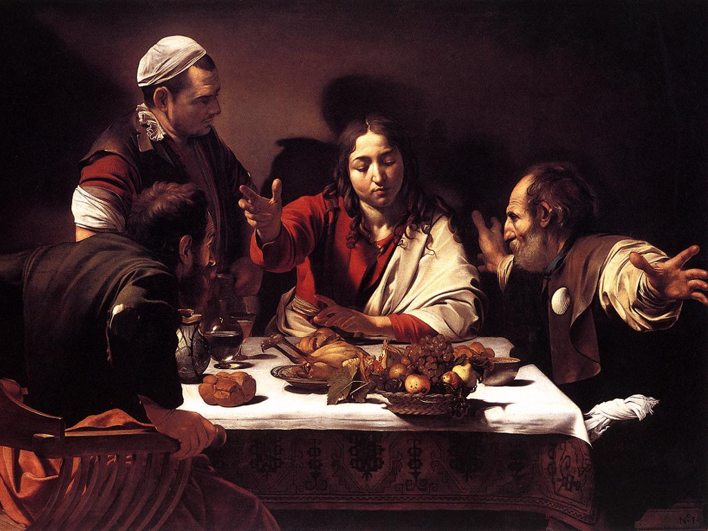 Artistic Wallpaper: Caravaggio - Supper at Emmaus
