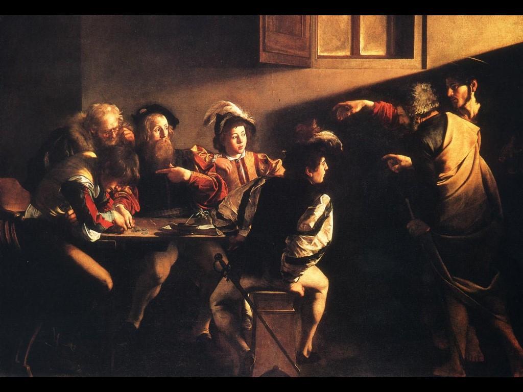 Artistic Wallpaper: Caravaggio - The Calling of Saint-Matthew
