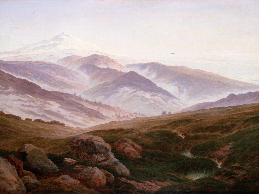 Artistic Wallpaper: Caspar David Friedrich - Erinnerungen an das Riesengebirge