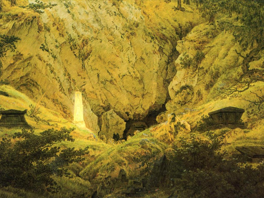 Artistic Wallpaper: Caspar David Friedrich - Old Heroes Graves
