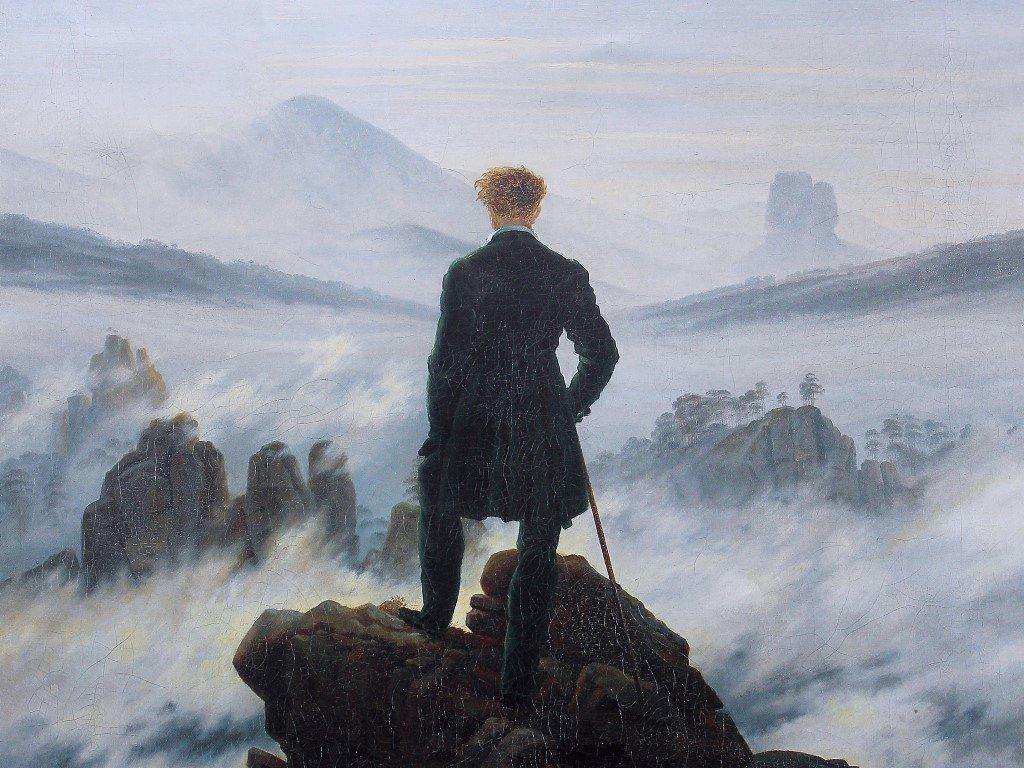Artistic Wallpaper: Caspar David Friedrich - The Wanderer Above the Sea of Fog