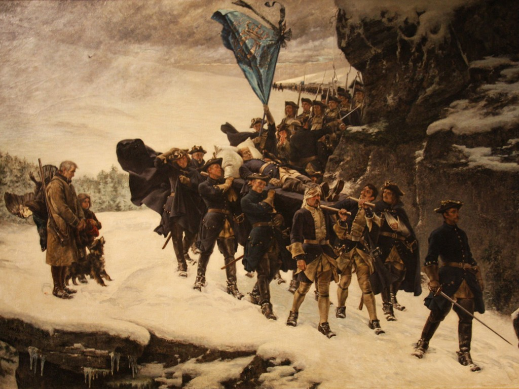Artistic Wallpaper: Cederstrom - Funeral Prosession of King Charles XII