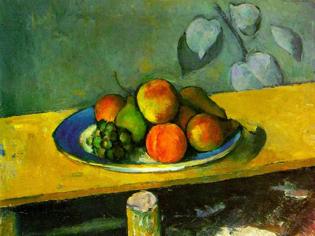 Artistic Wallpaper: Cezanne - Apples, Peaches, Pears and Grapes