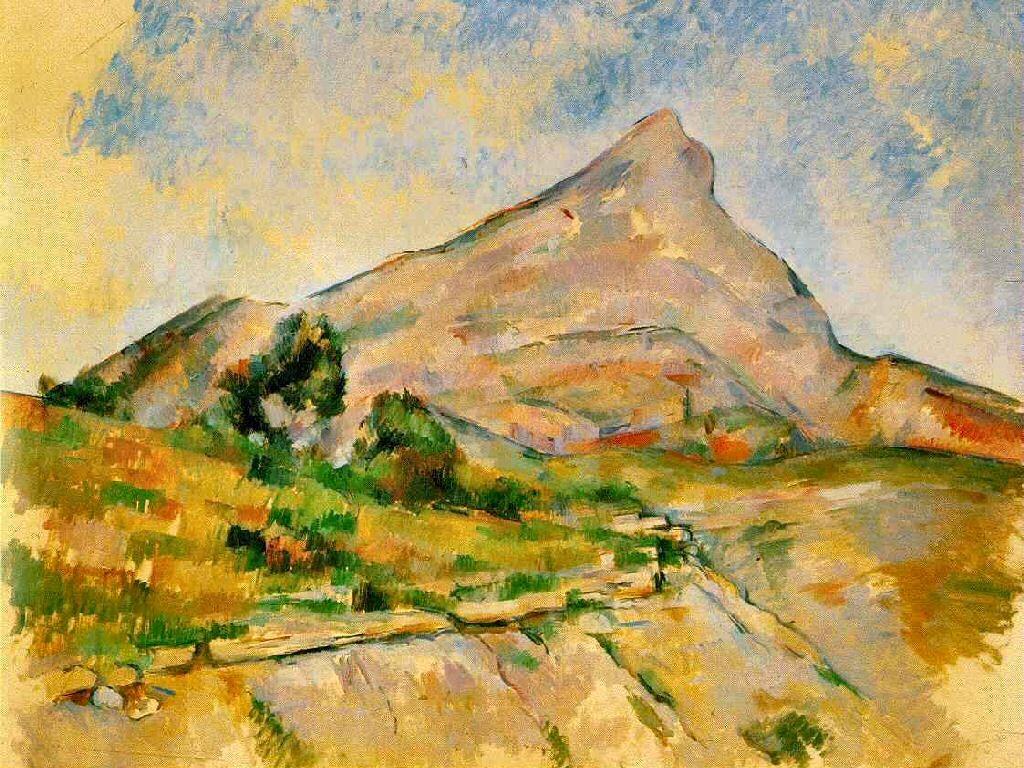 Artistic Wallpaper: Cezanne - Mont Sant-Victoire