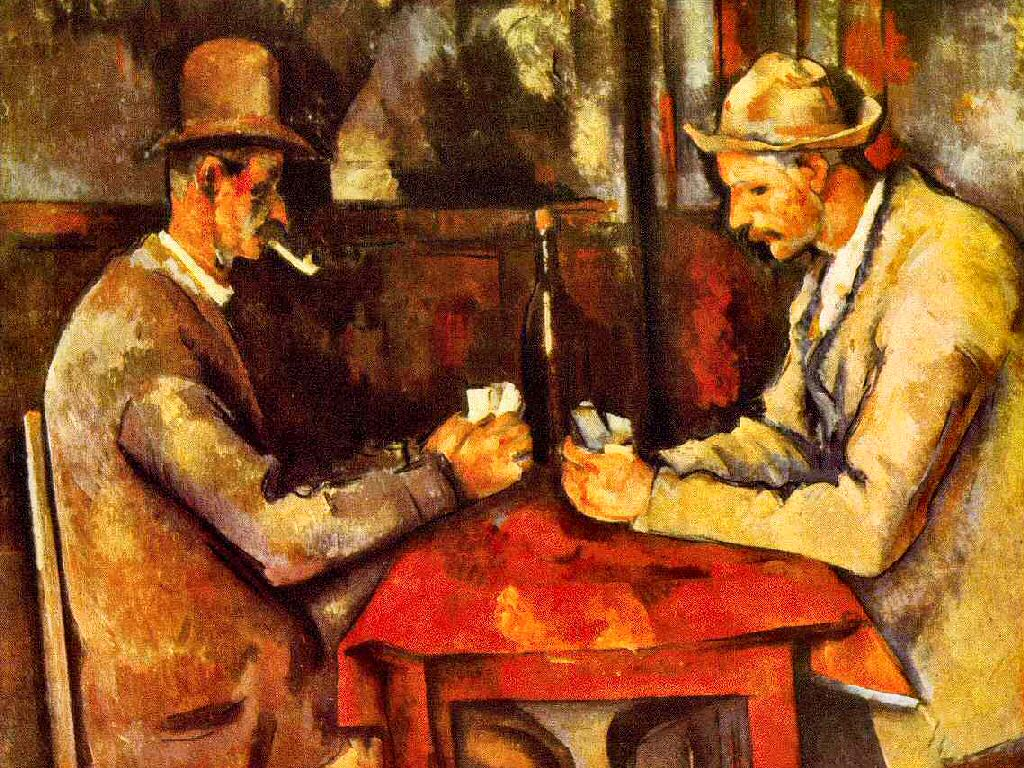 Artistic Wallpaper: Cezanne - The Card Players