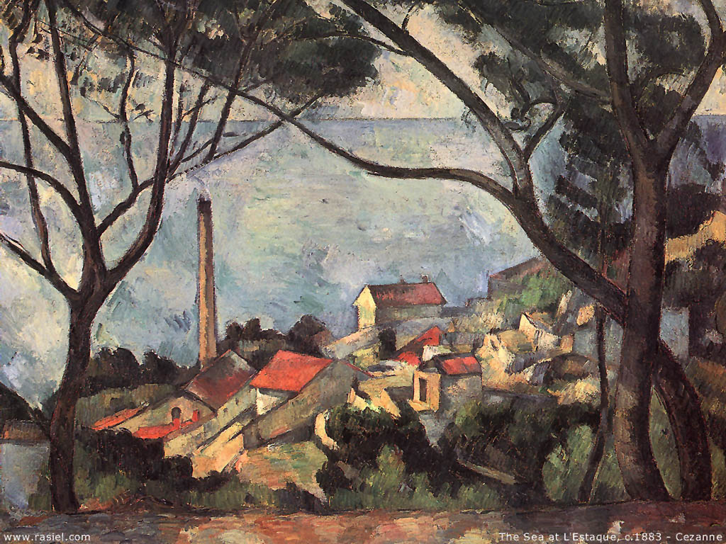 Artistic Wallpaper: Cezanne - The Sea at L'Estaque