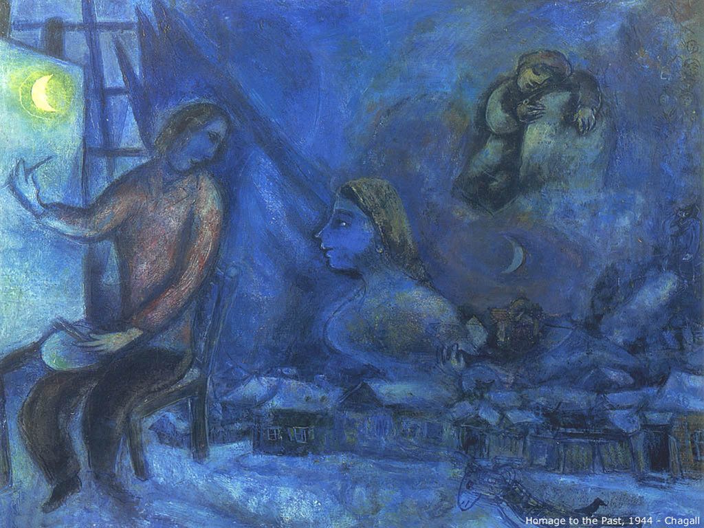 Papel de Parede Gratuito de Artes : Chagall - Homage to the Past