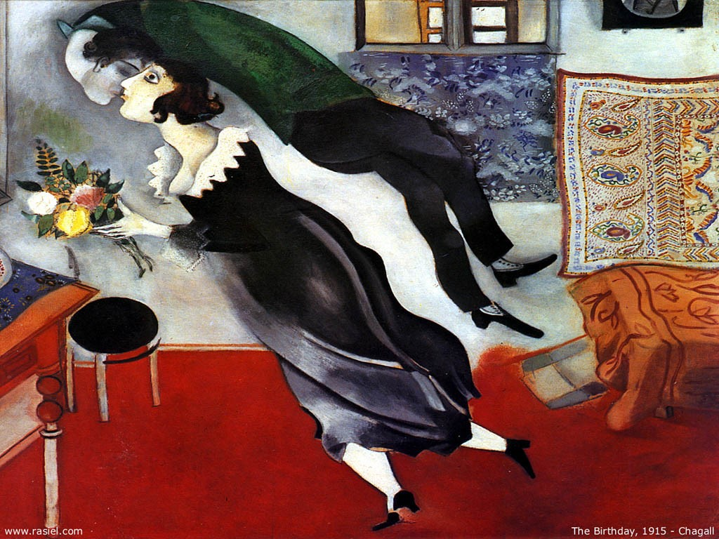 Artistic Wallpaper: Chagall - The Birthday