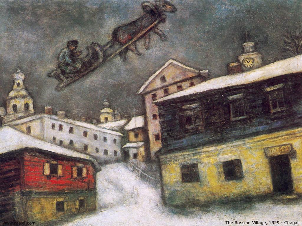 Artistic Wallpaper: Chagall - The Russian Village