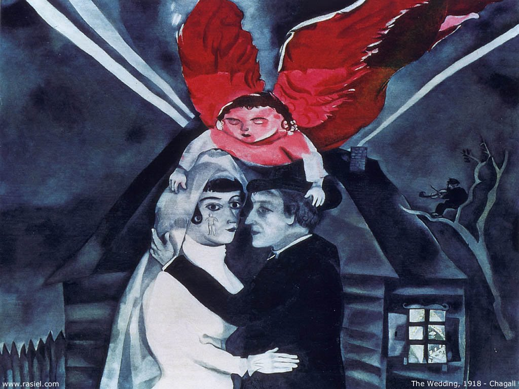 Artistic Wallpaper: Chagall - The Wedding