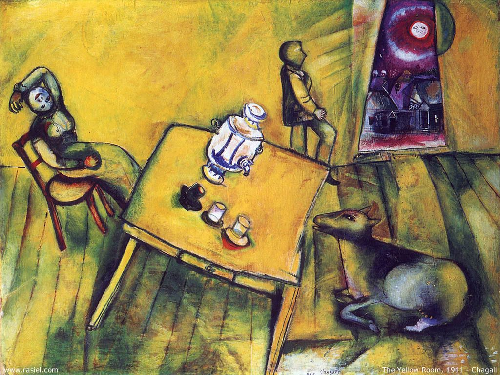 Artistic Wallpaper: Chagall - The Yellow Room